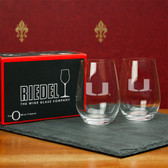 Miami Hurricanes  Set of 2 Riedel 13 OZ Stemless Red Wine Glasses