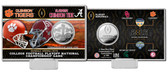 2016 College Football National Championship Game Silver Coin Card