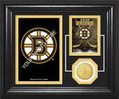 "Boston Bruins ""Fan Memories"" Bronze Coin Desktop Photo Mint"
