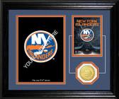 """New York Islanders """"Fan Memories"""" Bronze Coin Desktop Photo Mint"""