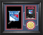 "New York Rangers ""Fan Memories"" Bronze Coin Desktop Photo Mint"