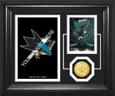 "San Jose Sharks ""Fan Memories"" Bronze Coin Desktop Photo Mint"