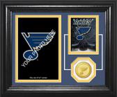 """St. Louis Blues """"Fan Memories"""" Bronze Coin Desktop Photo Mint"""