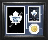"Toronto Maple Leafs ""Fan Memories"" Bronze Coin Desktop Photo Mint"