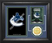 "Vancouver Canucks ""Fan Memories"" Bronze Coin Desktop Photo Mint"
