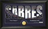 "Buffalo Sabres ""Silhouette"" Bronze Coin Panoramic Photo Mint"