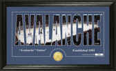 "Colorado Avalanche ""Silhouette"" Bronze Coin Panoramic Photo Mint"