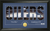 "Edmonton Oilers ""Silhouette"" Bronze Coin Panoramic Photo Mint"