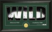 "Minnesota Wild ""Silhouette"" Bronze Coin Panoramic Photo Mint"