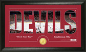 "New Jersey Devils ""Silhouette"" Bronze Coin Panoramic Photo Mint"