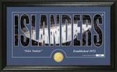 "New York Islanders ""Silhouette"" Bronze Coin Panoramic Photo Mint"