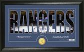 "New York Rangers ""Silhouette"" Bronze Coin Panoramic Photo Mint"