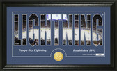 "Tampa Bay Lightning ""Silhouette"" Bronze Coin Panoramic Photo Mint"