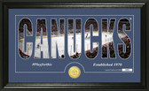 """Vancouver Canucks """"Silhouette"""" Bronze Coin Panoramic Photo Mint"""