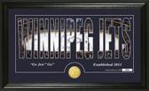 "Winnipeg Jets ""Silhouette"" Bronze Coin Panoramic Photo Mint"