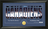 "Montreal Canadiens ""Silhouette"" Bronze Coin Panoramic Photo Mint"