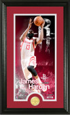 "Houston Rockets James Harden ""Supreme"" Bronze Coin Panoramic Photo Mint"