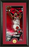 "Chicago Bulls Derrick Rose ""Supreme"" Bronze Coin Panoramic Photo Mint"