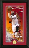 "Miami Heat Dwayne Wade ""Supreme"" Bronze Coin Panoramic Photo Mint"