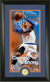 """New York Knicks Carmelo Anthony """"Supreme"""" Bronze Coin Panoramic Photo Mint"""
