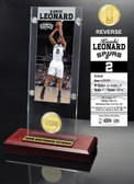 San Antonio Spurs Kawhi Leonard Ticket & Minted Coin Desktop Acrylic