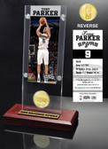 San Antonio Spurs Tony Parker Ticket & Bronze Coin Desktop Acrylic