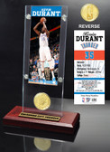 Oklahoma City Thunder Kevin Durant Ticket & Bronze Coin Desktop Acrylic