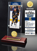 Buffalo Sabres Jack Eichel Ticket & Bronze Coin Acrylic Desktop