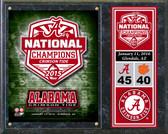 "Alabama Crimson Tide 2015 National Champions Team Logo Plaque 15""x12"""