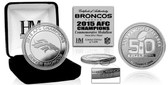 Denver Broncos 2015 AFC Champions Silver Mint Coin