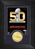 Denver Broncos Super Bowl 50 Bronze Coin Mini Mint