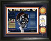 Denver Broncos Super Bowl 50 Bronze Coin Photo Mint