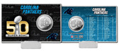 Carolina Panthers Super Bowl 50 Silver Flip Coin Card