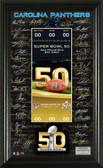 Carolina Panthers Super Bowl 50 Signature Ticket