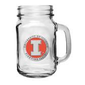 Illinois Fighting Illini Mason Jar Mug