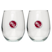 Florida State Seminoles Stemless Wine Glass (Set of 2)