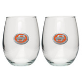Oklahoma State Cowboys Stemless Wine Glass (Set of 2)