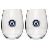 Auburn Tigers Stemless Wine Glass (Set of 2)