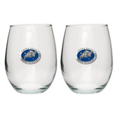 United States Navel Academy Stemless Wine Glass (Set of 2)