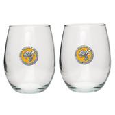 Georgia Tech Yellow Jackets Stemless Wine Glass (Set of 2)