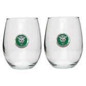 Marshall Thundering Herd Stemless Wine Glass (Set of 2)