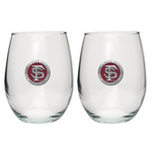 Florida State Seminoles Stemless Wine Glass (Set of 2) #2