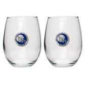 Ole Miss Rebels Helmet Logo Stemless Wine Glass (Set of 2)