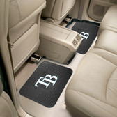 "Tampa Bay Rays Backseat Utility Mats 2 Pack 14""x17"""