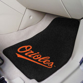 "Baltimore Orioles 2-piece Carpeted Car Mats 17""x27"""