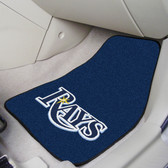 "Tampa Bay Rays 2-piece Carpeted Car Mats 17""x27"""