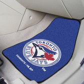 "Toronto Blue Jays 2-piece Carpeted Car Mats 17""x27"""