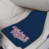 "Minnesota Twins 2-piece Carpeted Car Mats 17""x27"""