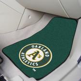 "Oakland Athletics 2-piece Carpeted Car Mats 17""x27"""