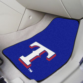 "Texas Rangers 2-piece Carpeted Car Mats 17""x27"""